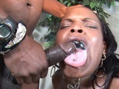 Fat black mature gets cum in mouth black chubby porn