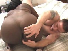 White guy fucks fat ebony black chubby porn