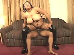 Horny ebony BBW vixen gets nailed heavily
