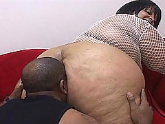 BBBW Farrah Gets Drilled Like a Dog black chubby porn