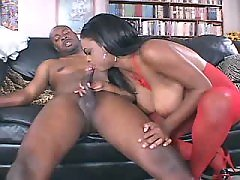 Adorable chocolate BBW knows sense in fucking black chubby porn
