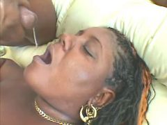 Black fatty gets in mouth